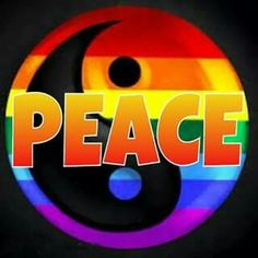 ➳➳➳☮American Hippie Art - Ying Yang Peace