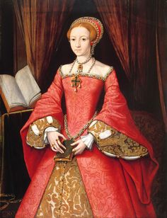 Princess Elizabeth Tudor (the future Queen Elizabeth I), by William Scrots (1546) ~~ This is my second favourite portrait of QE1, the Armada portrait by Gower just trumping it.