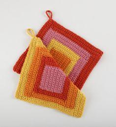 Warm Graphic Dishcloths ~ free crochet pattern