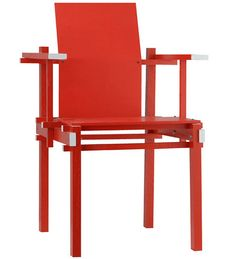GERRIT RIETVELD (1888-1964 Design Gerrit Rietveld armchair 1925 Scale model handmade by Cees Jacobs 2015. Not for sale.