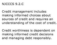 New Jersey World Class Standards Content area: 21st Century Life and Careers Personal Financial Literacy: 9.2.C for grade 12  Text from: http://www.nj.gov/education/cccs/standards/9/9-2.htm