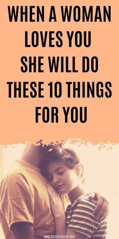 Does she truly loves you? Are her feelings for you real? How to know if your woman deeply loves you even if she doesn't say it? These are 10 surprising things a woman will do for you if she… Relationship Advice Quotes, Healthy Relationship Tips, Relationship Coach, Happy Relationships, Signs He Loves You, She Loves You, Sex And Love, Love You More, Addicted To You