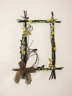Diy And Crafts, Crafts For Kids, Handmade Statement Necklace, Twig Wreath, Deco Floral, Spring Crafts, Holidays And Events, Easter Crafts, Flower Art