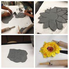 Pottery Art Project Ideas | Van gogh inspired sunflower bowls | Art Projects & Ideas: Clay