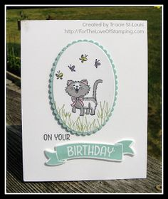 ~For The Love of Stamping~: Pretty Kitty Birthday Card