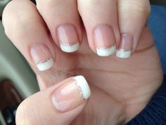 My gel nails for prom :) French tips with a line of silver glitter!