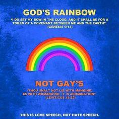 Genesis 9:13, Leviticus 18:22