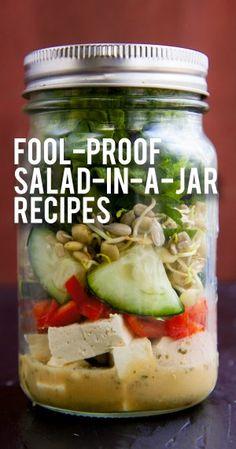 Salad-In-A-Jar 101: How to Make Mason Jar Salads + 4 Fool-Proof Salad in a Jar…