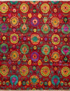 New Modern Sari Silk multi Rug SS15