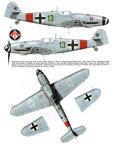 Messerschmitt Bf Erla Green 13 Walter Oesau WNr 20601 Lippspinge, май 1944 г. Ww2 Aircraft, Fighter Aircraft, Military Aircraft, Fighter Jets, Luftwaffe, Paderborn Germany, Focke Wulf, War Thunder, Aircraft Painting