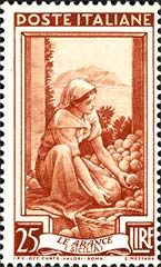 Emissione 1950 | Oranges from Sicily