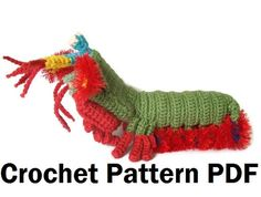 Peacock Mantis Shrimp Crochet Pattern by CraftFrogPatterns on Etsy, $6.50