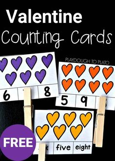 Valentine Counting Cards!! What a fun counting activity. Great for building fine motor skills and number recognition too.