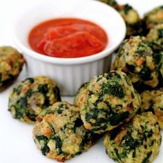 I make delicious stuffed mushrooms with basically all this same stuff, so I bet this is awesome!  Savory Spinach Bites-spinach, stuffing, and cheese appetizers that are ready in less than 25 minutes