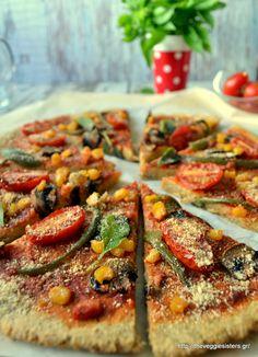 Ώρα για πίτσα - It's pizza time Pizza Recipes, Diet Recipes, Vegetarian Recipes, Cooking Recipes, Healthy Recipes, Healthy Meals, Fig Nutrition, Veggie Pizza, Greek Recipes
