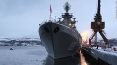 http://pinterest.com/pin/7248049376834359/ Putin orders 'full alert' SEVEROMORSK, RUSSIA - JANUARY 10: The heavy nuclear-powered missile cruiser Pyotr Veliky is seen at the Russian Northern Fleet's base January 10, 2013 in Severomorsk, Russia. Russian President Vladimir Putin awarded the crew of the Pyotr Veliky the Nakhimov order. (Photo by Sasha Mordovets/Getty Images)