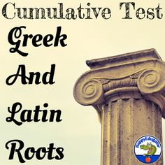 Cumulative Test of Greek and Latin Roots or Stems by HappyEdugator Latin Words, Greek Words, New Words, Vocabulary Instruction, Root Words, Prefixes, Multiple Choice, Reading Activities, Student Learning