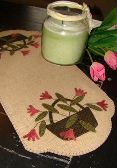Wool appliqued table runner...<3