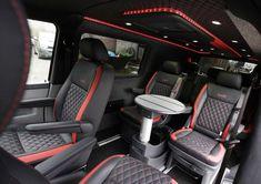 Headrest monitors and video screens for camper vans Vw Transporter Conversions, Vw Transporter Camper, Vw Conversions, Vw T3 Syncro, Kombi Motorhome, Vw Camper, Vw T5 Interior, Luxury Interior, Maserati