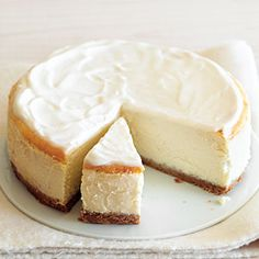 Luscious but Low-Fat Cheesecake Recipe... I'll have to try this because I love the cheesecake.