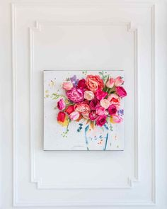 Ideas wall art floral display for 2019 Art Diy, Diy Wall Art, Diy Wall Decor, Art Decor, Wall Decorations, 3d Wall, Wall Art Crafts, Decor Room, Room Art