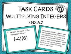 math worksheet : adding  subtracting integers with additive inverse task cards  : Additive Inverse Worksheets