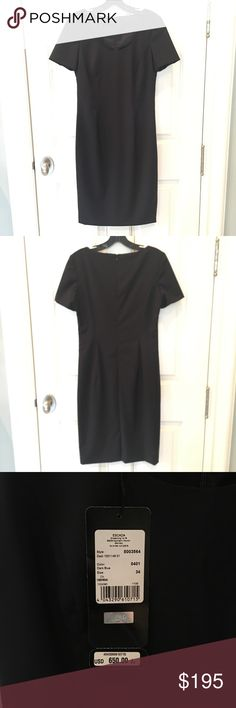 Escada Dark Navy/ Black Dress. NWT. NWT. Tag says dark blue but really looks black to me. Would be a great formal work dress. Size 34 so that's like a 0-2. Escada Dresses