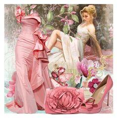 """Language of flowers. Magnolia. Happy birthday to all who were born April 1 - April 10"" by ladaluna ❤ liked on Polyvore featuring CO, Estée Lauder, Sharon Khazzam, Oscar de la Renta, Valentino and Versus"