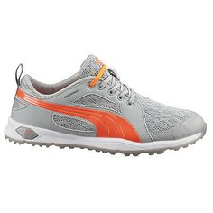 e7c81bae823f Golf Shoes 181147  New Womens Puma Biofly Mesh Golf Shoes Grey Orange Size  - Choose