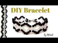 Beaded bracelet. Easy beading tutorial. Pearl bracelet. Super easy tutorial. Beginners beading. - YouTube