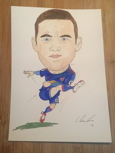 Wayne Rooney drawn by Liam Tunnah (250 goal special)