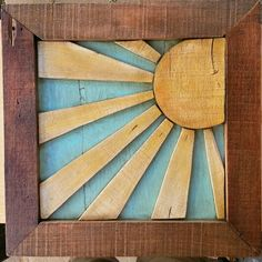 Sunshine made from pallets.
