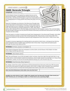 Worksheets: The Bermuda Triangle