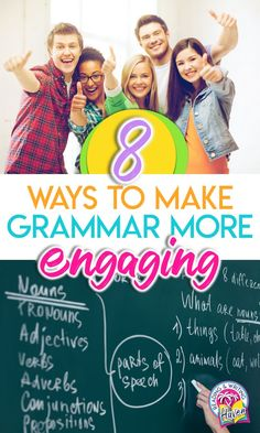Engaging grammar lessons - ideas for middle and high school ELA #EngagingGrammar #MiddleSchoolELA #HighSchoolELA