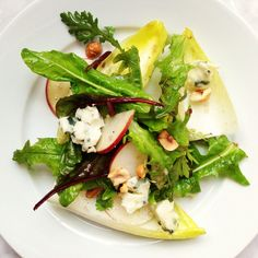 ... apple, Roquefort, and toasted hazelnuts: http://thecooksatelier.com