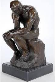 Rodin the Thinker Statue Fine Art Sculpture Male Nude ...