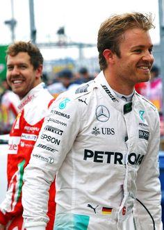 Nico Rosberg and Sebastian Vettel   2016 Canadian GP