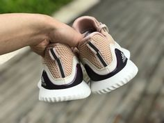 online store d924e d5fa2 Adidas Alphabounce Womens Shoes Beyond Ecru Tint Ash Pearl DB0206 In-Hand  Heel- AnpKick