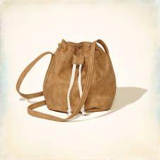 Faux Suede Crossbody Bag