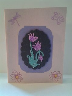 October 2016 card swap. Theme scrap card, using your scraps to create your card. Created by Diane Grove.
