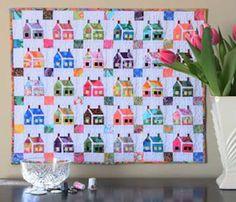Kaffe Fassett Quilting and Sewing - Kaffeesorten 2020 House Quilt Patterns, House Quilt Block, Paper Pieced Quilt Patterns, Quilt Block Patterns, Pattern Paper, Quilt Blocks, Applique Quilts, Elephant Paper Piecing, Winter Quilts