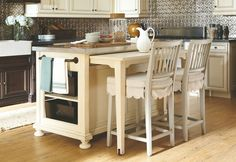 Love the pull out table and moveability--Paula Deen Riverhouse River Boat Kitchen Island