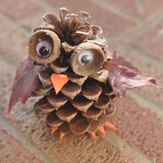 Pine Cone Owl Tutorial