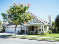 Sunny house and yard