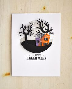 Happy Halloween Card by Maile Belles for Papertrey Ink (August 2015)