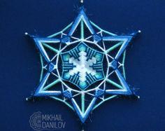 Hilado de mandala tejido Ojo del Shaman mandala por DanilovMandala