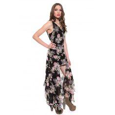 UNIF  Naomi Dress in Black Floral
