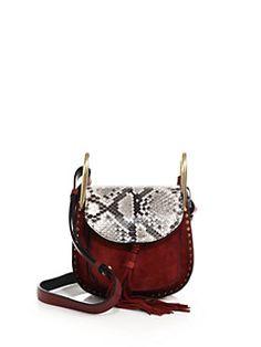 32bf033daba7 Chloé - Hudson Mini Calfskin Shoulder Bag Chloe Hudson