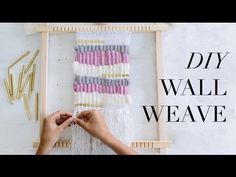 Learn how to create a beautiful wall weave - it's easier than you think! I show you how to add gorgeous metal accents. Read more details of this technique he. Save On Crafts, Easy Diy Crafts, Leftover Fabric, Decorate Your Room, Woven Wall Hanging, Weaving Techniques, Diy Videos, Diy Wall, Wall Tapestry