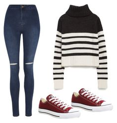 """""""Sans titre #16"""" by leonorabuffo on Polyvore featuring mode, George, Zara et Converse"""